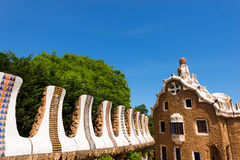 住处del瓜达区- Gaudi -停放Guell 库存照片