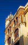 住处Ocana卡拉斯科萨,一个历史建筑在塞维利亚,西班牙 在1929年修造 库存照片