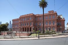 住处Rosada在五月广场,布宜诺斯艾利斯,阿根廷 库存图片