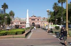 住处Rosada在五月广场,布宜诺斯艾利斯,阿根廷 免版税库存照片