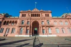 住处Rosada大厦在布宜诺斯艾利斯,阿根廷 免版税库存图片