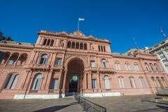 住处Rosada大厦在布宜诺斯艾利斯,阿根廷。 图库摄影
