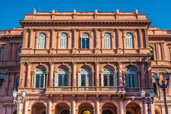 住处Rosada大厦在布宜诺斯艾利斯,阿根廷 免版税库存照片
