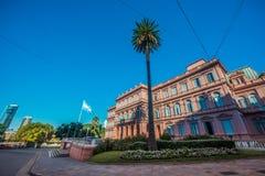 住处Rosada大厦在布宜诺斯艾利斯,阿根廷 库存图片