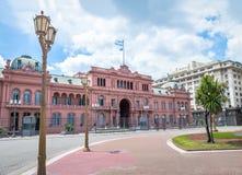 住处Rosada桃红色议院,阿根廷总统府-布宜诺斯艾利斯,阿根廷 图库摄影