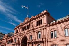 住处Rosada,从阿根廷的总统宫殿 免版税库存图片