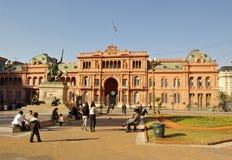 住处Rosada,总统房子在阿根廷 免版税库存图片