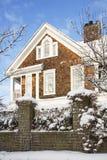 住宅冬天 免版税库存照片