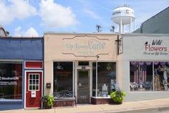 住宅区卷曲沙龙和温泉, Covington, TN 免版税库存照片