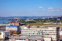 住宅区在伊尔库次克,俄罗斯 库存照片