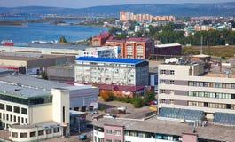住宅区在伊尔库次克,俄罗斯 免版税库存图片