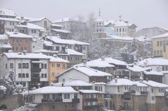 住宅区在冬天 免版税库存照片