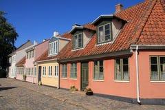 住宅区在城市欧登塞在Danmark 库存图片