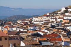 住宅区在安达卢西亚的镇 阿尔考德特 库存照片