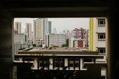 住宅区在新加坡 库存图片