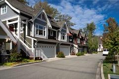 住宅区在温哥华市 免版税库存图片