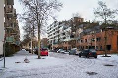 住宅区在阿姆斯特丹 图库摄影