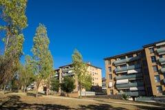 住宅区域在Sant Cugat del Valles在巴塞罗那 免版税库存图片