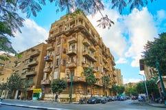 住宅处所在街市的开罗,埃及 免版税库存照片