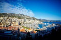住宅处所,摩纳哥,法国 免版税库存图片