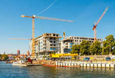 住宅复合体的建筑 图库摄影