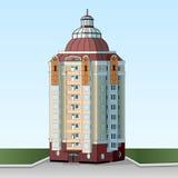 住宅多层的公寓 编译的现代都市 美丽的门面高层建筑物 连栋房屋 免版税图库摄影