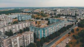 住宅多层的大厦鸟瞰图在城市 影视素材
