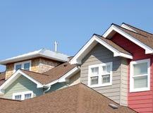 住宅屋顶顶层 免版税库存照片