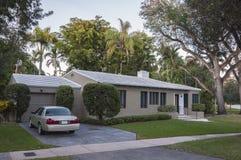 住宅房子在佛罗里达 免版税库存照片