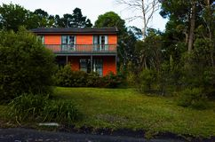 住宅房子在蓝山山脉澳大利亚 免版税库存照片