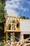 住宅房子的框架 图库摄影