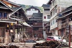 住宅房子露台在城阳村庄 免版税库存照片