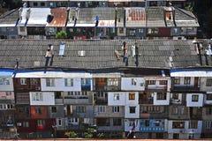 住宅房子顶视图在巴统 库存照片