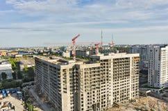 住宅房子建造场所在秋明州 免版税库存图片