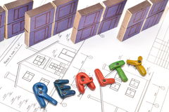 住宅抵押贷款 隐喻 免版税库存图片