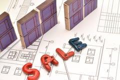 住宅抵押贷款 隐喻 免版税库存照片