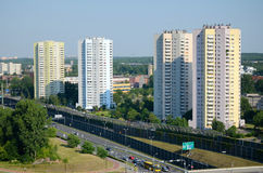 住宅摩天大楼在卡托维兹,波兰 免版税库存图片