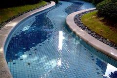 住宅游泳池 免版税库存图片