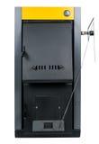 住宅熔炉、烧伤木柴或采煤和做温暖的航空 免版税图库摄影