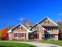住宅的房子 免版税图库摄影