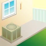 住宅的空调器 免版税库存图片