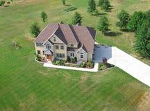 住宅空中的房子 免版税库存图片