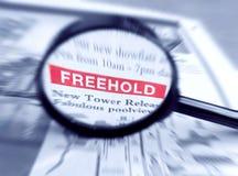 住宅终身保有的不动产的属性 免版税库存照片