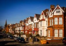 住宅路在伦敦 图库摄影