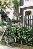 住宅邻里在阿姆斯特丹,荷兰 免版税库存照片