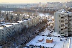 住宅邻里的鸟瞰图 Balashikha,俄罗斯 库存图片