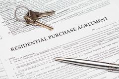 住宅采购协议 免版税库存图片