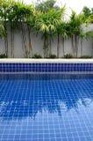 住宅inground游泳池 免版税库存照片