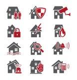 住家安全图标 库存照片