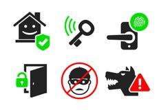 住家安全象设置了04 免版税图库摄影